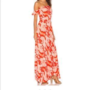 Flynn Skye Off The Shoulder Floral Maxi Dress